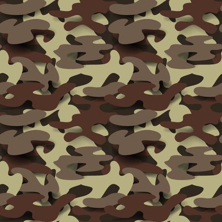 군사 원활한 패턴입니다. 위장 배경입니다. 카 모 패션 텍스처입니다. 육군 유니폼. 벡터 일러스트 레이 션