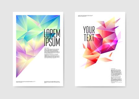 抽象的なポスターは三角の設計をカバーする。ジオメトリックシェイプのパンフレットテンプレート。バナー Id カードのデザイン。ベクターイラス  イラスト・ベクター素材