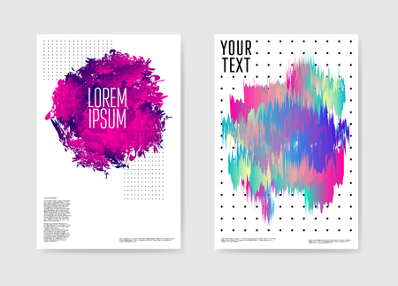 Abstract Poster Liquid Shapes Background. Fluid Forms Brochure Template. Banner Cover Identity Card Design. Vector illustration Ilustrace
