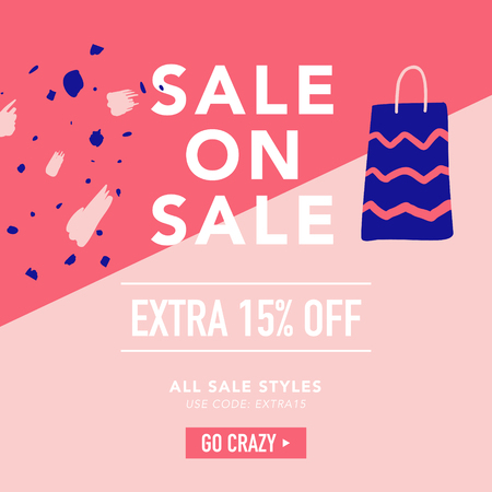 Sale Banner Template. Discount Poster, Promo Web Design with Gifts. Promotional Fashion Background for Placard, Flyer, Advertisement. Vector illustration Stock Vector - 102161018