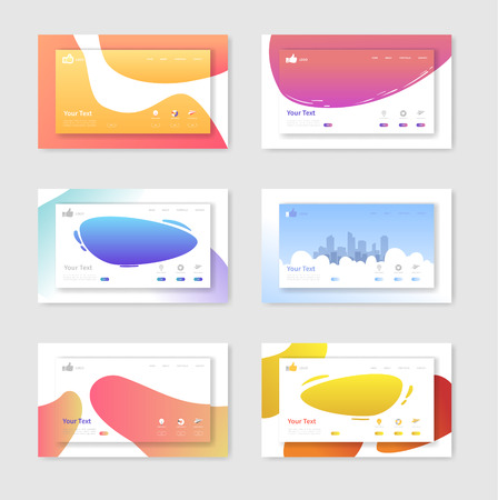 Set of Website Templates Landing Page Layouts. Mobile Development Design Easy to Edit and Customize. Vector illustration