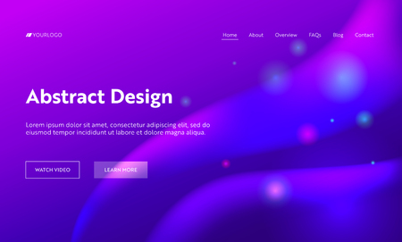 Purple Abstract Geometric Sparkle Gloss Landing Page Background. Futuristic Digital Motion Gradient Pattern. Creative Soft Neon Wave Backdrop for Website Web Page. Flat Cartoon Vector Illustration Banco de Imagens - 118161123