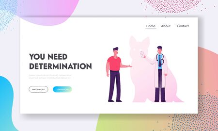 Allergy on Cats Wool Concept for Website Landing Page. Sick Patients with Body Rash Visiting Doctor. Allergen Drugs