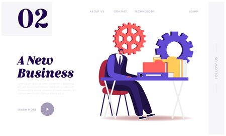 Audit Website Landing Page. Administrator Business Man Financial Inspector and Secretary Making Report Calculating Balance. Internal Revenue Service Web Page Banner. Cartoon Flat Vector Illustration