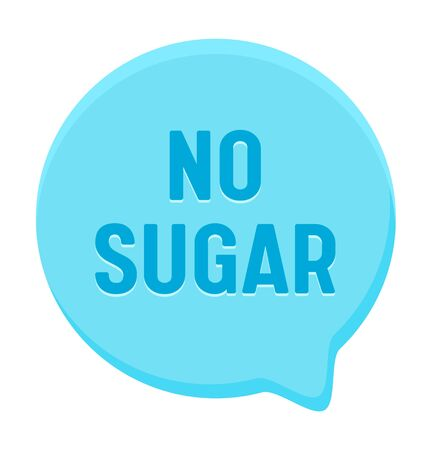 Zero Percent Sugar Banner, Round Speech Bubble. Icon for Healthy Food or Diabetes Production, Low Carb Eco Nutrition Иллюстрация