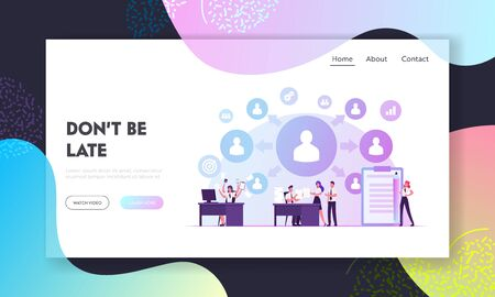 Delegation of Authority Website Landing Page. Overload Business Woman Delegate Tasks to Employees. Office People Share Work, Professional Management Web Page Banner. Cartoon Flat Vector Illustration