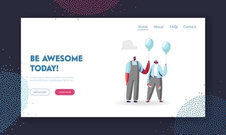 Individuality and Inspiration, Be Unique Landing Page Template. Young Identical Male and Female Characters Creativity Illustration