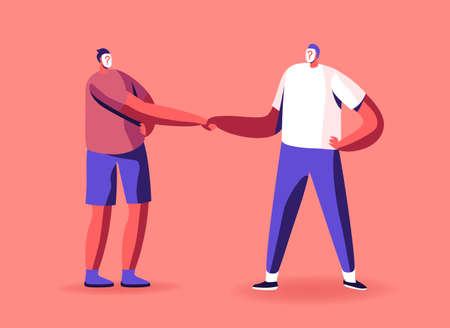 Anonymity, Hypocrisy and Identity Concept. Unrecognizable Anonymous Characters with Question Instead of Face Shake Hands Ilustrace