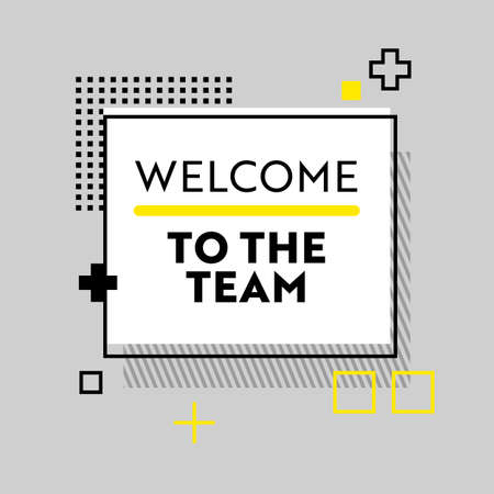 Welcome to the Team Banner with Abstract Pattern on Grey Background. Headhunting and Human Resource Research