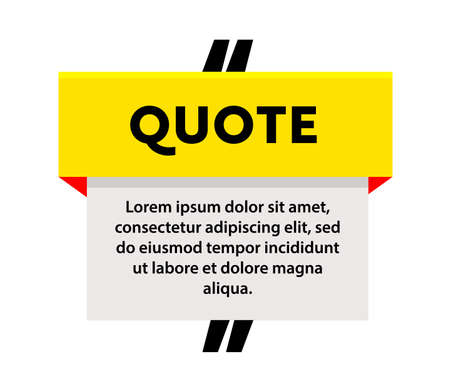 Quote Frame or Banner with Place for Excerpt, Message or Note. Modern Style Speech Bubble Box Template. Creative Poster Illustration