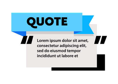 Quote Box Frame for Texting and Messages. Blank Template for Text Info Design. Quotation Bubble Blog Symbol, Quotation