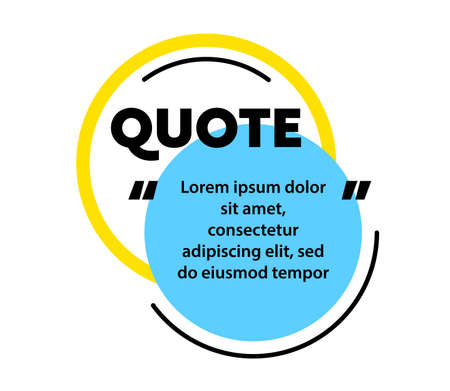 Quote, Excerpt Citing for Magazine or Blog. Speech Bubble, Blank Layout Template, Quotation Box Frame. Remark, Mention Stock Illustratie