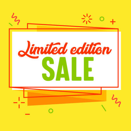 Limited Edition Sale Banner for Digital Media Marketing Advertising. Store New Arrival Hot Offer, Shopping or Discount Stock Illustratie