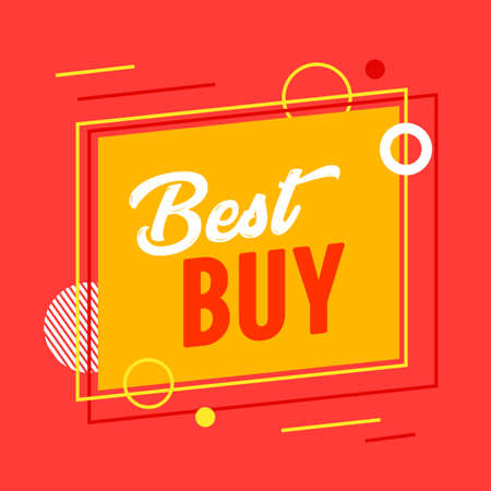 Best Buy Banner for Digital Social Media Marketing Advertising. Sale, Hot Offer, Weekend Shopping or Discount Stock Illustratie