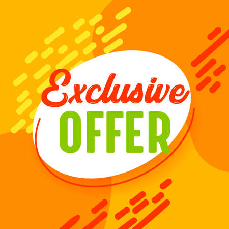 Best Offer Sale Banner in Funky Style with Typography for Digital Social Media Marketing Advertising. Hot Shopping Illustration