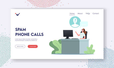Spam Phone Calls Landing Page Template.