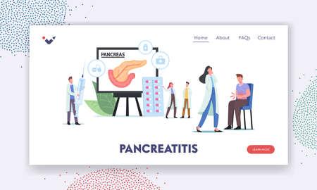 Pancreatitis Diagnosis, Pancreas Disease Symptoms Landing Page Template.