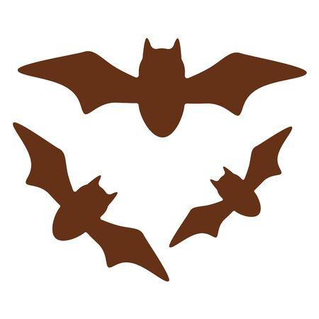 Bats on white background. Trendy flat style for graphic design, web-site. Vector illustration Ilustracje wektorowe