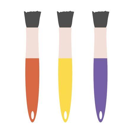 Paint brush. Vector illustration EPS 10.