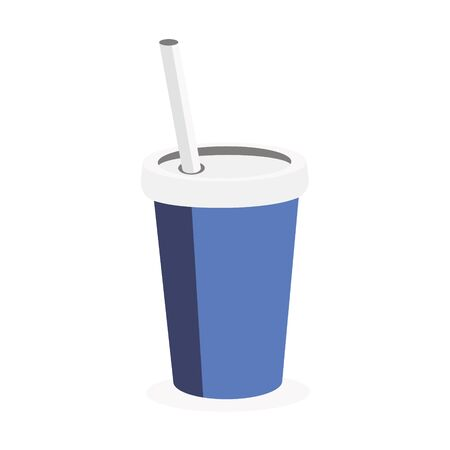 Coffee Paper Cup on white background.