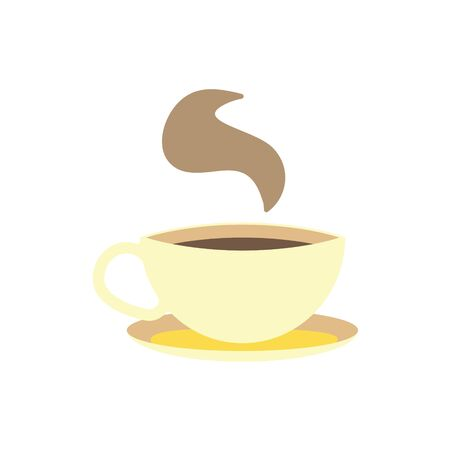 Coffee cup on white background. Vector illustration in trendy flat style. EPS 10.  向量圖像