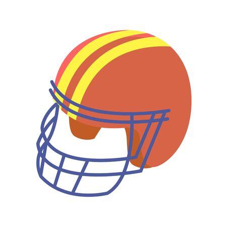 American football helmet on white background. Vector illustration.