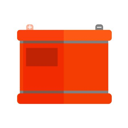 Car battery icon in trendy flat style. Vector illustration.