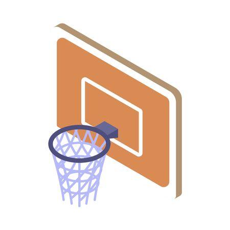 Basketball hoop on white background. Vector illustration. Vecteurs