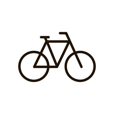 Bicycle icon in trendy flat style isolated. Illustration Ilustração