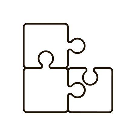 Puzzle icon in trendy flat style isolated Ilustração