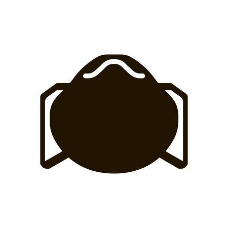 Virus protection medical mask icon in trendy flat style isolated on white background Ilustração