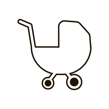 Baby carriage icon in trendy flat style isolated Imagens - 150085318