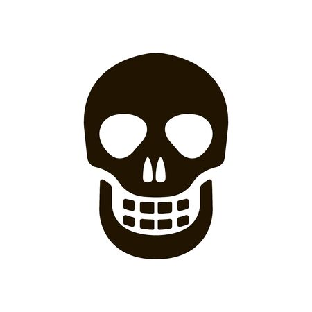 Human skull icon in trendy flat style isolated on white background Imagens - 150085321