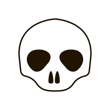 Human skull icon in trendy flat style isolated on white background Imagens - 150085317