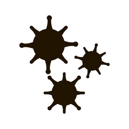 Bacterium corona virus icon in trendy flat style isolated on white background Ilustração