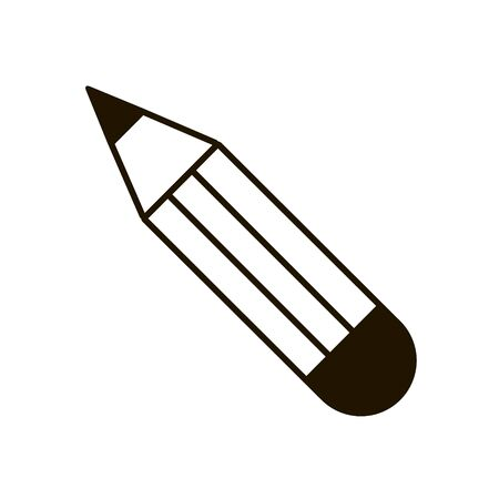 Plain eraser pencil icon in trendy flat style isolated.