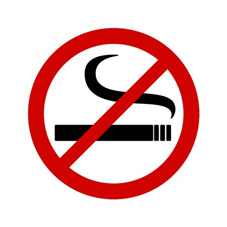 No smoking sign on white background. Vector illustration in trendy flat style.