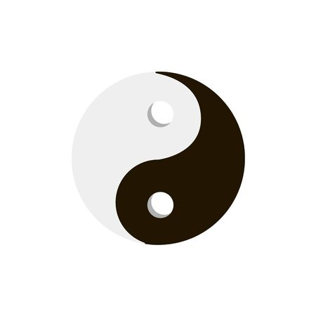 Yin Yang symbol on white background.