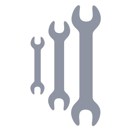 Spanners on white background. Vector illustration in trendy flat style..
