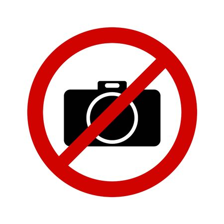 No photo sign on white background.