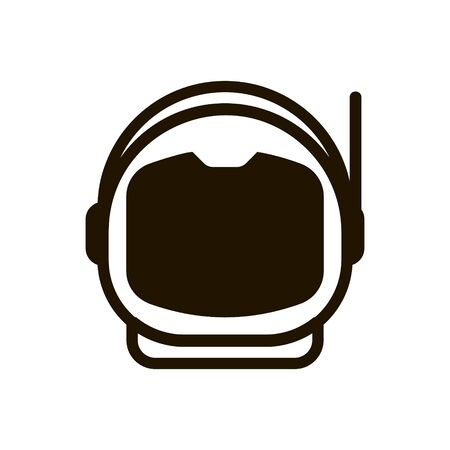 Sludge of astronaut and astronaut for being in space icon in trendy flat style isolated.
