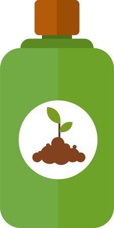Vector illustration of various fertilizers. Flat style. Stock Illustratie
