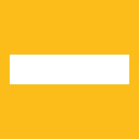 Minus icon. For websites and apps. Image on yellow background. Flat line vector illustration.