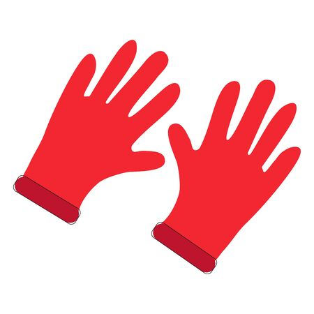 Construction gloves icon. Use for dish wash and disinfection. Vector illustration Banque d'images