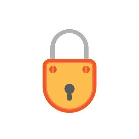 Lock safety on white background. Vector illustration in trendy flat style. Ilustração