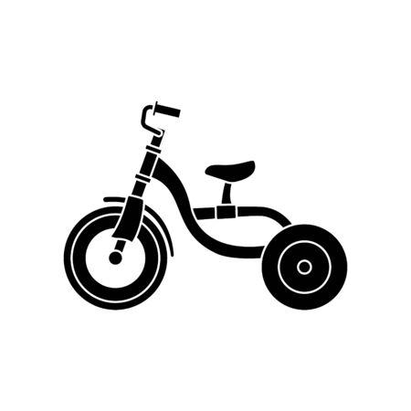 Children Tricycle transportation on white background. Stock Illustration Ilustração