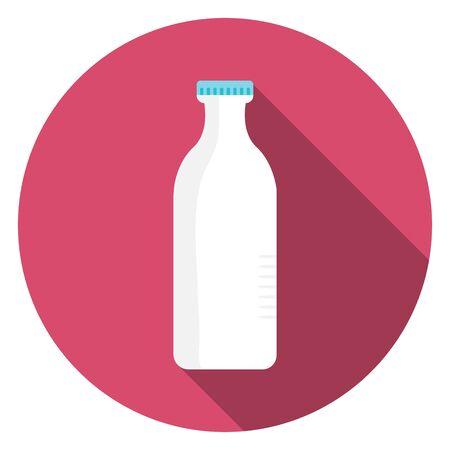 Milk package on white background. Stock Illustration