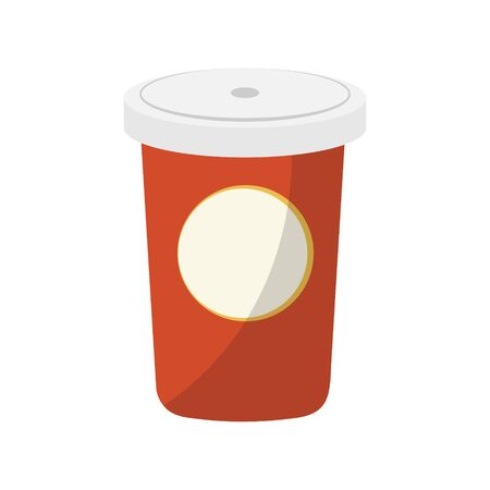 Paper Coffee Cup on white background. Stock Illustration