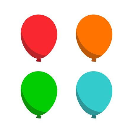 Glossy Balloons set with Canada Day in trendy flat style isolated. Stock Vector illustration