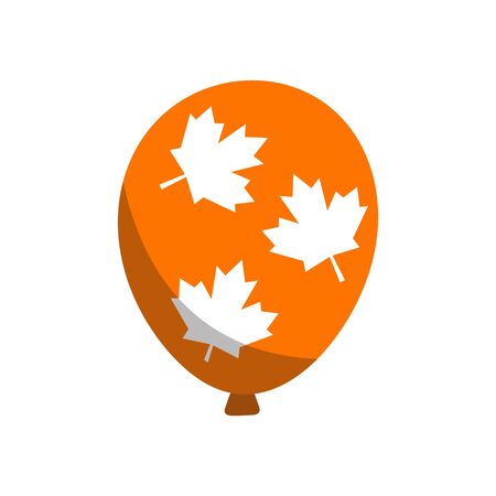 Glossy Balloons with Canada Day in trendy flat style isolated. Stock Vector illustration Ilustração
